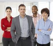 Różnorodna drużyna pomyślni biurowi ludzie Obraz Stock