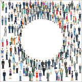 Różnorodna grupa ludzi tworzy okrąg ilustracja wektor