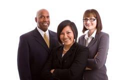 Różnorodna grupa ludzie biznesu odizolowywający na bielu fotografia royalty free