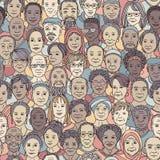 Różnorodna grupa starzy ludzie 50+ ilustracji