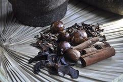 Różnorodna pikantność i ziołowy tradycyjny pojęcie Obrazy Royalty Free