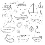 Różnorodne łodzie Obrazy Royalty Free