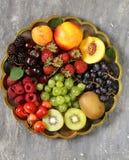 Różnorodne świeże organicznie jagody Obraz Royalty Free