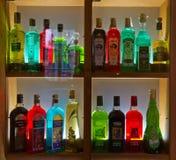 Różnorodne butelki Absinth fotografia royalty free