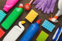 Różnorodne cleaning dostawy, housekeeping tło obraz stock