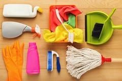 Różnorodne cleaning dostawy, housekeeping tło fotografia stock