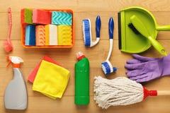 Różnorodne cleaning dostawy, housekeeping tło zdjęcie royalty free