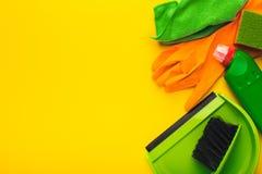 Różnorodne cleaning dostawy, housekeeping tło obrazy stock