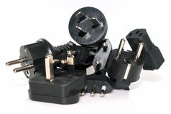 Różnorodne elektryczne prymki fotografia stock