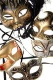 różnorodne karnawałowe maski Obrazy Stock