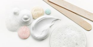 Różnorodne kosmetyczne śmietanki Obraz Royalty Free
