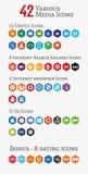 Różnorodne medialne wielobok ikony (Ustawiać 1) royalty ilustracja