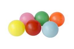 Różnorodne piłki na bielu zdjęcia stock