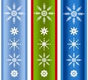 Różnorodne Xmas płatka śniegu granicy obrazy royalty free