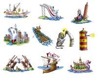 różnorodnego 4 statku ilustracja wektor