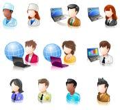 różnorodnego iconset 4 glansowanego ludzie Obraz Stock