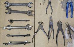 Różnorodnego rocznika metalu starzy narzędzia Obraz Stock