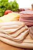 Różnorodnego zimna Rżnięci mięsa Obrazy Stock