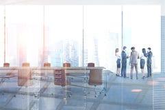 Różnorodnej biznes drużyny pokoju konferencyjnego biurowa kopia obrazy royalty free