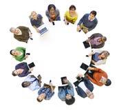 Różnorodnej różnorodności pochodzenia etnicznego drużyny pracy zespołowej jedności Etniczny pojęcie obrazy stock