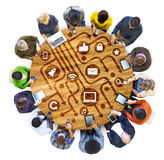 Różnorodnej różnorodności pochodzenia etnicznego drużyny pracy zespołowej jedności Etniczny pojęcie fotografia stock