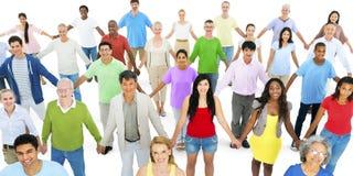 Różnorodnej różnorodności pochodzenia etnicznego różnicy jedności Etniczna więź zdjęcie stock