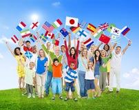 Różnorodnej różnorodności pochodzenia etnicznego różnicy więzi Etniczny pojęcie fotografia stock