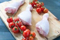 Różnorodni świezi mięsa kurczak i wieprzowina Zdjęcie Royalty Free