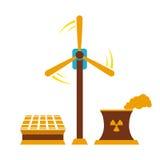 Różnorodni źródła energii inkasowi royalty ilustracja