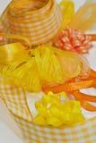 Różnorodni żółci faborki Fotografia Stock