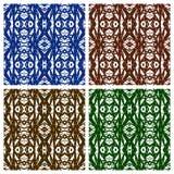 Różnorodni abstraktów wzory Zdjęcia Royalty Free