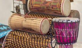 Różnorodni afrykanów bębeny Zdjęcie Stock