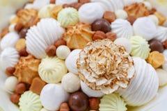 Różnorodni apetyczni cukierki które są bardzo szkodliwi istota ludzka zdjęcie stock