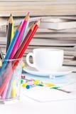 różnorodni biurowi narzędzia Obrazy Stock