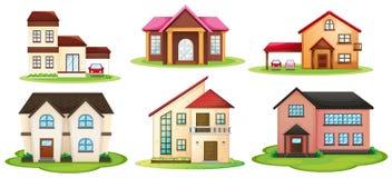 Różnorodni domy Obrazy Royalty Free