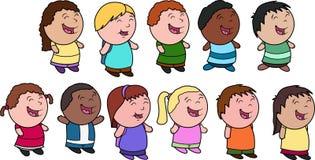 różnorodni grupowi dzieciaki Fotografia Royalty Free