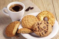 różnorodni kawowi ciastka Zdjęcia Stock