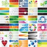 Różnorodni 90 kolorowych sztandarów - wektorowa kolekcja Fotografia Royalty Free