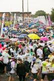 Różnorodni ludzie biega w kolorze Biegają maraton w Pretoria Obrazy Stock