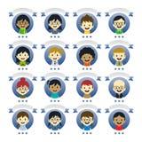 Różnorodni ludzie postać z kreskówki Zdjęcie Stock