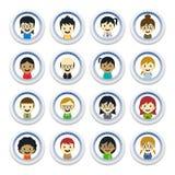Różnorodni ludzie postać z kreskówki Obrazy Royalty Free