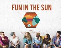 Różnorodni ludzie zabawy W The Sun pojęciu Zdjęcie Royalty Free