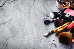 Różnorodni makeup produkty zdjęcia royalty free