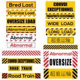 Różnorodni ogromni ładunków znaki, symbole i Fotografia Royalty Free