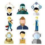 Różnorodni pracujący ludzi Wektorowego ilustracja setu ilustracji