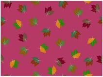 Różnorodni projektujemy dwa tonują liście na purpurowym tle ilustracja wektor