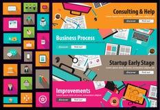 Różnorodni projekty: Idealny Workspace dla pracy zespołowej ilustracja wektor