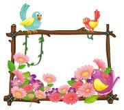 Różnorodni ptaki royalty ilustracja