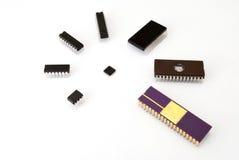 Różnorodni rodzaje elektroniczni układy scaleni Fotografia Stock
