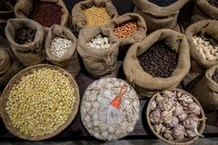 Różnorodni rodzaje Karmowy składnik Fotografia Royalty Free